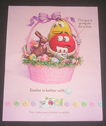 2014 PRINT AD M&M Candy, Easter Basket, Easter Bunny, Easter