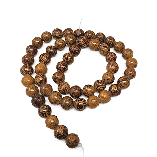 Top Quality Natural Golden Tiger Skin Jasper Gemstone 6mm Round Loose Gems Stone Beads 15 Inch for Jewelry Craft Making GF27-6 ()