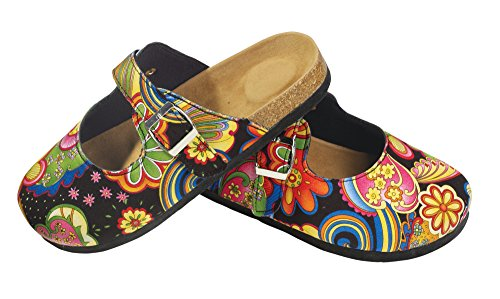 Picture of The Paragon Paisley Slip-On Clogs, Comfortable Mule Shoes
