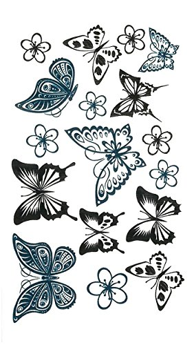 Lily Amor Cute Temporary Tattoos for Women Set of 12 Sheets
