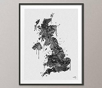Carte Royaume Uni Noir Et Blanc.Cocomilla Royaume Uni Carte Royaume Uni Carte De Aquarelle