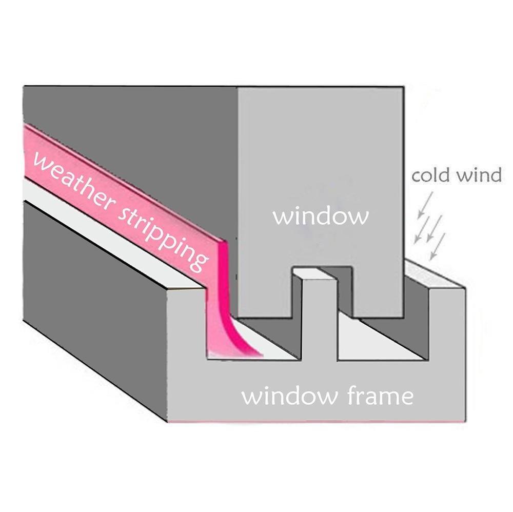 Door Draft Stopper Foonee Transparent Self Adhesive Door Seal Strip 25mm//35mm//45mm 5M Universal Weather Stripping Rubber Seal Strip Tape Door Windows Seal