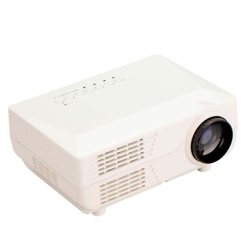 Proyector portátil HD HD HD 1080P 30000 de por Vida Adecuado para Juegos de Mesa de Cine en casa Teléfono móvil Compatible PC Tarjeta SD,Blanco ca5e0c