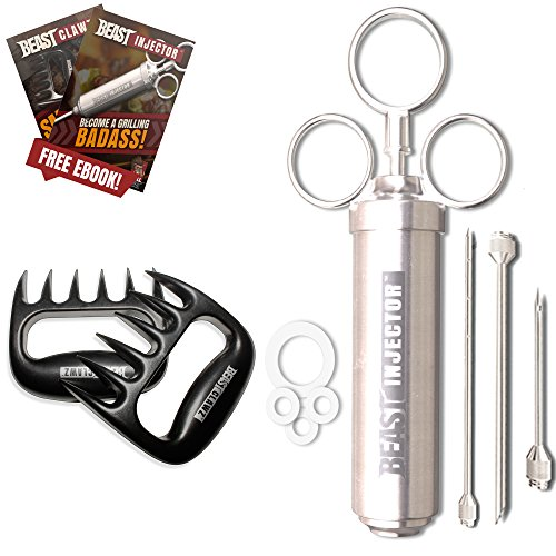 - Grill Beast Serious Grill Kit Includes Meat Shredder & Meat Injector Enhance Flavor & Juiciness Of Your Pulled Pork Inject Marinade & Meat Tenderizer Then Effortlessly Shred With Our Meat Claws
