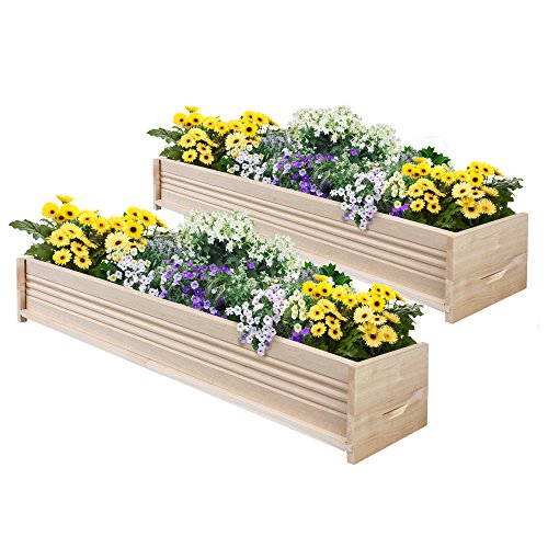 Greenes Fence Cedar Patio Planter Box, 48-Inch, 2-Planters - Cove Window