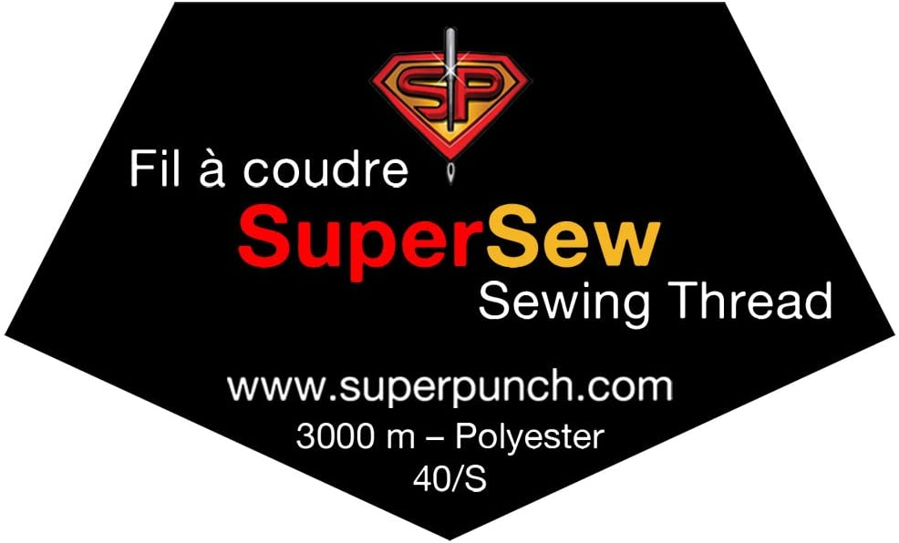 3000 m Polyester SuperSew White Sewing Quilting Serger Thread