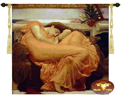 Beautiful Flaming June Fine Tapestry Jacquard Woven Wall Hanging Art Decor