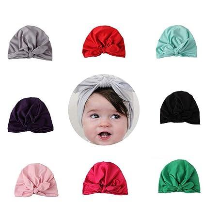 BrilliantDay 9 PCS Cute Baby Girls Toddler Kids Turban Headband Hairband  Headwrap Headwear for Photography Props 9b36b31249d1