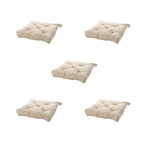 Ikea Malinda - Cojín para Silla (5 Unidades), Color Beige ...