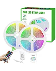 Led Strip Lights, Super Bright RGB 24V Color Changing Led Strip Lights with 44 Keys RF Remote Controller for Bedroom Room TV Party Festival Wedding