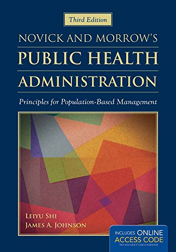 Pdf Medical Books Novick  &  Morrow's Public Health Administration: Principles for Population-Based Management