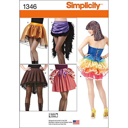 Simplicity 1346 Women's Skirt Costume Sewing Patterns, Size -