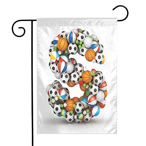 Mannwarehouse Letter S Garden Flag Boys Kids Sports Design Match Competition Children Capital S Initials Name Print Premium Material W12 x L18 Multicolor