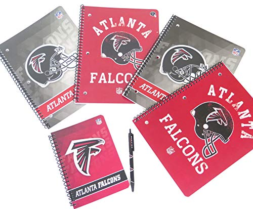 (Atlanta Falcons back to school set includes ballpoint pen, 2 large spiral Single subject)