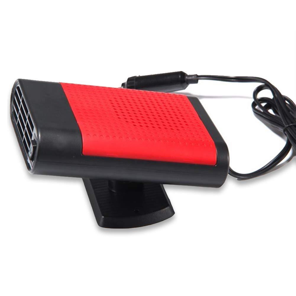 ele ELEOPTION Car Heater Fan, 150W 30 Seconds Quick Heating Portable Car Vehicle Heater Fan, Quick Defroster Demister, DC 12V (Black & Grey) Mingpinhui