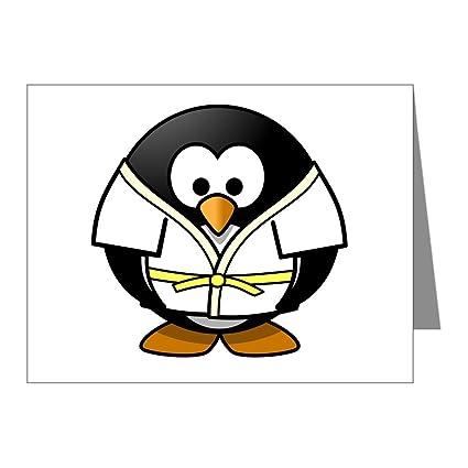 Amazon greeting card little round penguin martial arts greeting card little round penguin martial arts karate judo m4hsunfo