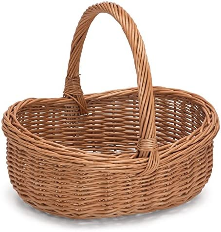 Prestige Wicker Willow Basket with Handle, Natural, 43x36x35 cm