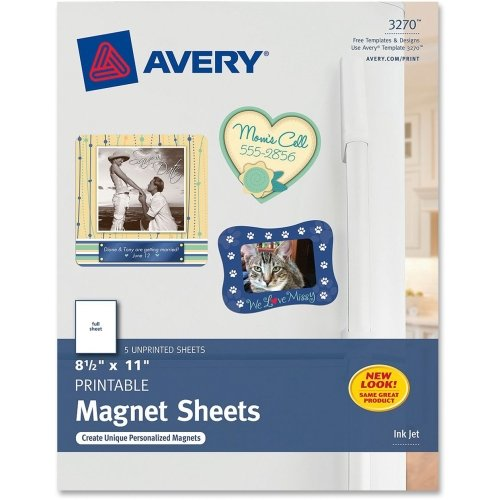 Avery 3270 Magnet Sheets - Printable - Inkjet - 8-1 2