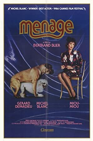 Menage Poster Film 27,9 X 43,2 Cm – 28 Cm X 44 Cm Gerard Depardieu ...