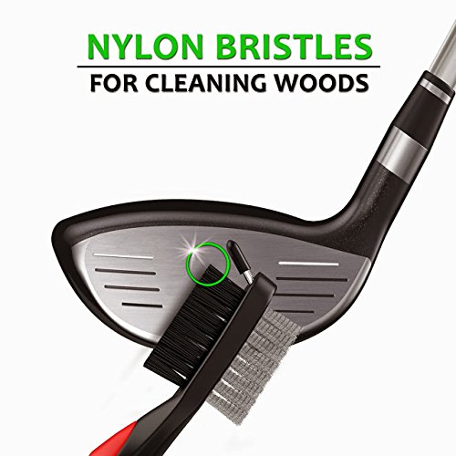 STIXX Golf #1 Golf Club & Grip Cleaner and 3-in-1 Heavy Duty Golf Brush & Groove Cleaner Kit. 2 Great Products Easily Attach to Your Golf Bag. Great gift for Golfers! by STIXX Golf (Image #2)