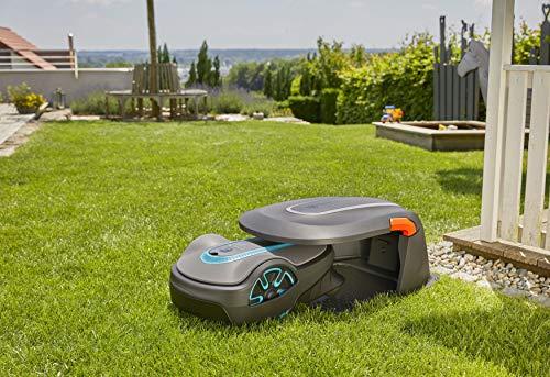 GARDENA 15020-20 Caseta para robots cortacésped garaje para segadora, protección contra el sol y la lluvia para el robot y la estación de carga
