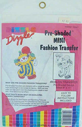 DIZZLE PRE-SHADE MINI FASHION TRANSFER #52052 CLOWN