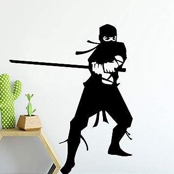 XCGZ Pegatinas De Pared Samurai Ninja Pattern Wall Sticker ...