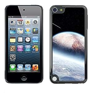 PC/Aluminum Funda Carcasa protectora para Apple iPod Touch 5 Alien Planets Meteor Shower Stars Space Cosmos / JUSTGO PHONE PROTECTOR