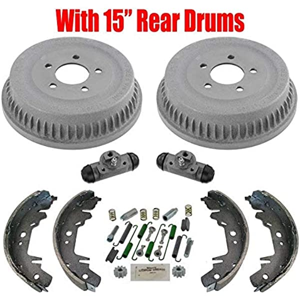 Both Left and Right with 2 Years Manufacturer Warranty 2003 For Dodge Caravan Rear Drum Brake Shoes Set