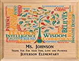 Broad Bay Personalized Teacher Gift Plaque Customized Teacher Appreciation Gift