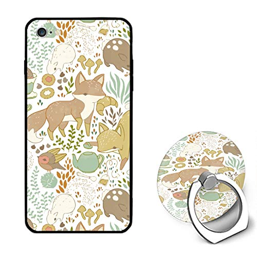 Forest Fox iPhone 6 / 6s Case Ultra Light Slim Fit Anti Scratch Fingerprint Premium with Ring ()