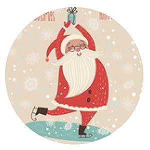 alfombrilla de ratón Tarjeta de Feliz Navidad - ronda - 20cm