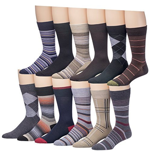 Alberto Cardinali Colorful Patterned Fancy Cotton 12 Pack Men's Dress Socks (AC (Fancy Patterned)