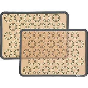 AmazonBasics - Tappetini da forno in Silicone Macaron, Set da 3 pezzi 3