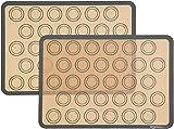 AmazonBasics Silicone, Non-Stick, Food Safe Baking Mat, Macaron - Pack of 2
