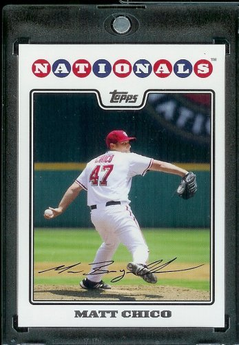 2008 Topps Baseball Card #498 Matt Chico