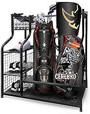 Mythinglogic Golf Storage Garage Organizer,Golf Bag Storage Stand and Other Golfing Equipment Rack,Extra Large