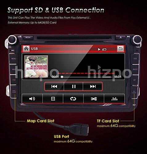 hizpo 8inch tv monitor hd touchscreen auto car dvd player gps navigator for volkswagen jetta