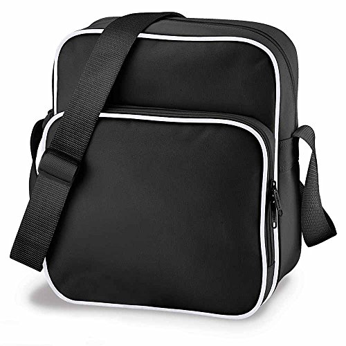 Bg026 Day Unisex's BagBase Black White BG026BKWH Medium Bag Retro qq04S6