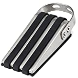 SleekStopper SW-041C Decorative Stainless Steel Door Stopper with Rubber Treads and Metal Handle (2 Pack)