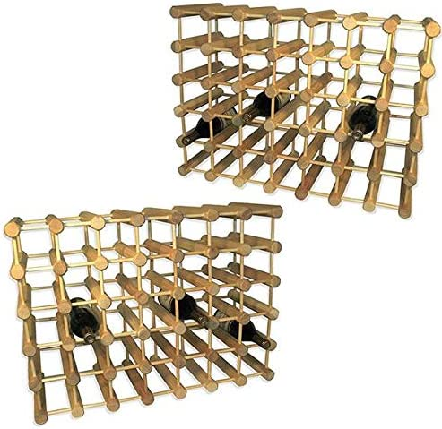 J.K. Adams Ash Wood 80-Bottle Wine Rack