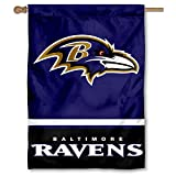 Baltimore Ravens Two Sided House Flag