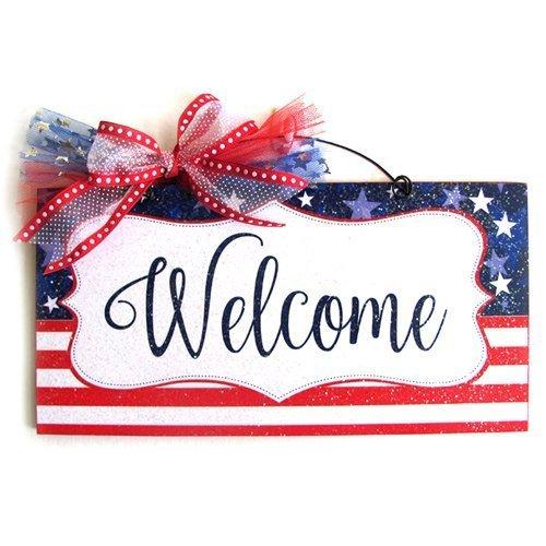 Amazon.com: Patriotic Welcome sign.: Handmade