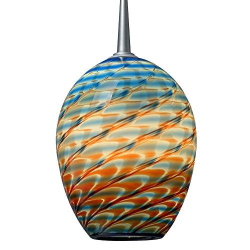 Bruck Lighting 221341mc - Bolero LED 1-Light Low Voltage Pendant with Uni-Plug - Matte Chrome Finish with Santa Fe Glass - Glasses Bolero