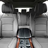 FH GROUP PU205115 Ultra Comfort Leatherette Seat Cushions (Airbag Compatible) Solid Gray Color- Fit Most Car, Truck, Suv, or Van