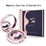 Magnetic Eyeliner and False Eyelashes, Reusable Magnetic Eyelash Kit with Tweezers Fake Eye Lashes