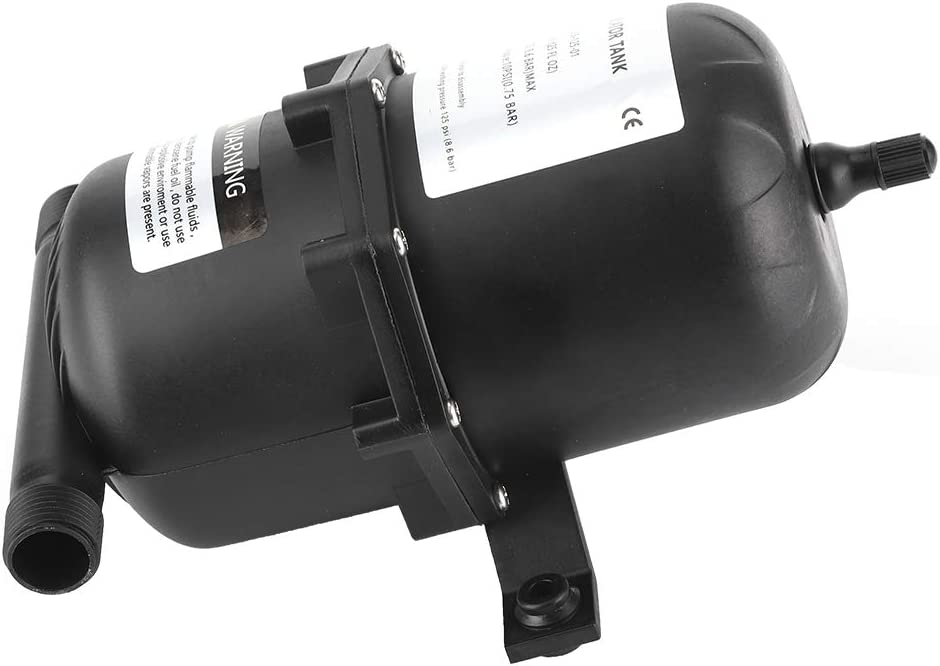 Tanque de presi/ón del acumulador Control de flujo de la bomba de agua 0,75 L 125PSI Impermeable para barco RV marino Tanque acumulador prepresurizado