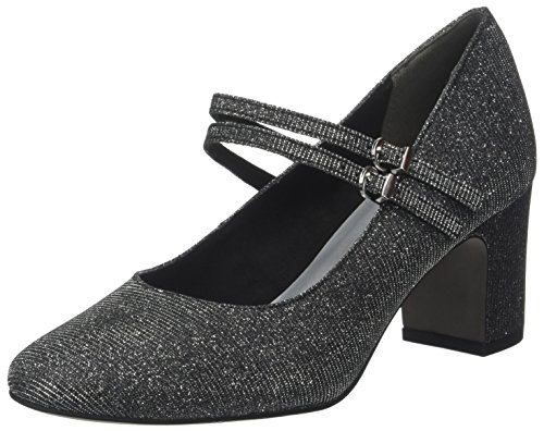 Tamaris Damen 24407 Pumps Zwart (black Glam)