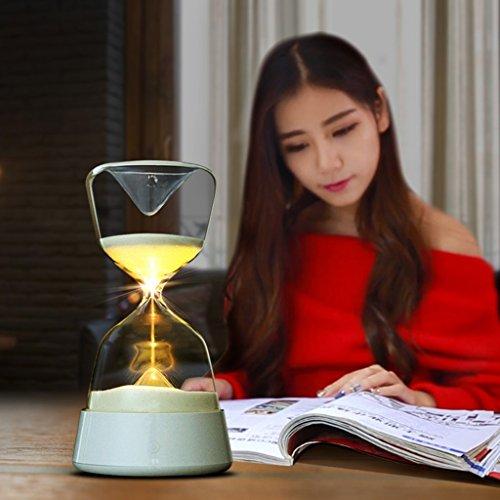 Night Lights Hourglass with Sleep lamp Creative Personality New Year's Day Gifts Bed Night Light Charging Baby Energy-Saving Sleep lamp (Ornate Hourglass)