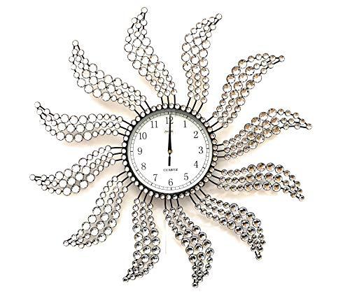 Meida Rustic Windmill Clock with 8.5''inch Digital Clock Face Handmade Crystal Decorative
